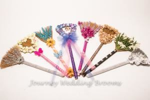 Journey Wedding Brooms, Charlotte — We will create your Journey Broom to reflect your personal style & wedding colors. 