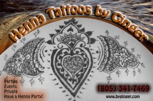 Henna Tattoos by Ginger, Newbury Park