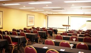 Delta, Peery Hotel, Salt Lake City — The Delta Room is our largest banquet room. It can hold up to 80 in theater style, 65 in banquets, 50 in classroom and 45 in U-shape. This room is perfect for any type of private event or business meeting.