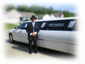 Harvey Limousine LLC, Kalamazoo — Owner Scott Williams standing proud with his 10 passenger stretch limousine.