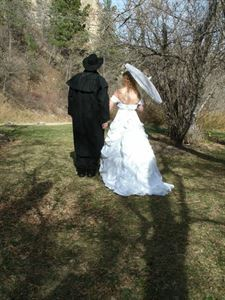 Intimate Wedding Package with Officiant, Black Hills Wedding Chapel Officiant, Deadwood — Victorian Wedding Couple Roughlock Falls Savoy, South Dakota