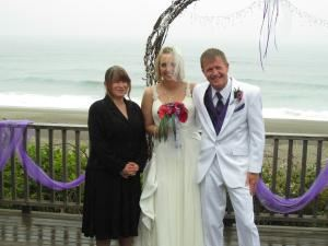 Custom Ceremony, Loving Vows, McMinnville — 6-30-2012 on the deck of a lovely beach house in Gleneden Beach, Oregon.