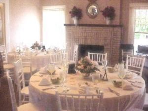 Living Room with Fireplace, Peach Brandy Cottage, Dawsonville — Our Historic House is the perfect place for Small Wedding Receptions.