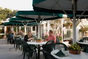 Restaurant Patio, Apple Farm Inn, San Luis Obispo — A beautiful location with breathtaking views.