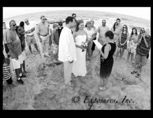 Just The Officiant, Vows At The Beach, Murrells Inlet — Nikki and John