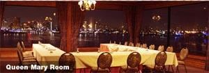 Queen Mary Room, The Reef On The Water, Long Beach — The Queen Mary Room features a view overlooking the Queensway Harbor and the downtown Long Beach skyline.