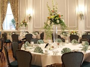 Dinner Buffet, Meeting House Grand Ballroom, Plymouth — Florists will love the decorating options available.