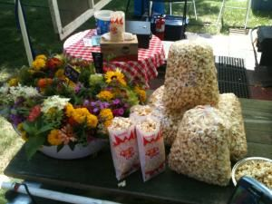 the Kettle Korn House, Pepin — What goes well with kettle corn? Flowers of course! Allison Lisk is my partner in life as well as business and she is the floral, set-up and event designer most everywhere the Kettle Korn House goes. Contact Allison via her Facebook page at www.facebook.com/allisonliskflowers