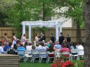 All Inclusive Wedding Package for 100, Historic Hayes House, Muskogee — Outside wedding