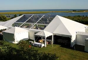 EVENTENTS, Navarre — 40' WIDE FUTURE TRAC FRAME TENT WITH CLEAR PANELS