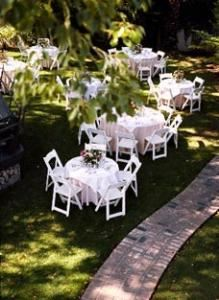 Garden, Happy Trails Catering Wedding Hall, Pasadena — Our garden has plenty of seating for your guests.