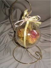 100mm Acrylic Ball Ornament With Ribbon package includes 2  ornaments, Memories Preserved - Custom Freeze-Dried Florals, Appleton