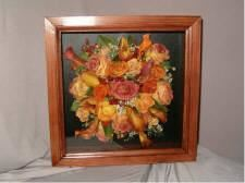 12' x 12' Shadowbox, Memories Preserved - Custom Freeze-Dried Florals, Appleton
