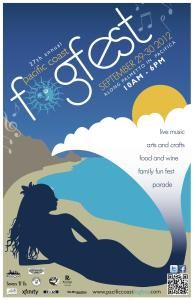 Pacific Coast Fog Fest, Pacifica — Official 2012 Pacific Coast Fog Fest Poster