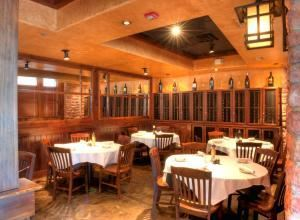 Copper Canyon Grill - Orlando, Orlando — Our private Wine Room, which seats up to 30 guests comfortably, is an ideal location for your business meeting, celebratory outing, wedding rehearsal dinner, or just a gathering of friends.  Tables can be arranged into round tables of six or square tables of four.  Linens are included in the F&B minimum, and there is no additional room rental fee.