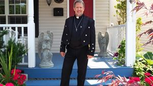 Scottish Wedding and Celtic Wedding Ceremony, Weddings and More Honeymoon Capital Niagara, Niagara Falls — Prince Charlie jacket, cumberbund and black dress pants give a Tuxedo look to this outfit.