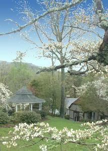 1906 Pine Crest Inn & Conference Center, Tryon — Gazebo with Year-round Flowering Gardens