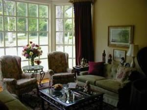 Sleepy Hollow House and BnB, Sleepy Hollow, Clemson — Formal living and dining area for guest intitial entrance and greeting.  Steinway Grand for elegant music.  Catering available for that special reception.