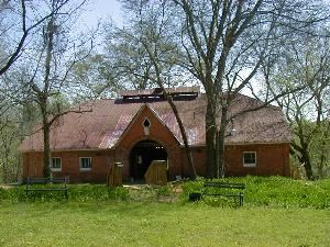 House and Barn Outdoor Space, Sleepy Hollow, Clemson — View from the Show Ring when the Plantation was housing Percheron Horses and Jersey Cattle for sale.  Grounds are good for outdoor weddings, receptions, and tents.  The largest White Oak Tree in South Carolina can be viewed from this area.  Two creeks and over 30 acres of fields can be walked.  With the 44 acres your imagination can lead you almost anywhere.