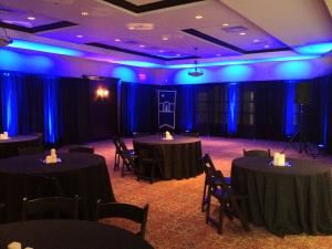 Up-Lighting Package, PTE Productions - Special Events, Orlando — Ballroom Uplights