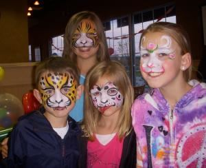 Kim's Fun Faces, Millington — Let Kims Fun Faces put the fun in your next event, face painting, airbrush tattoos, balloon twisting, body painting