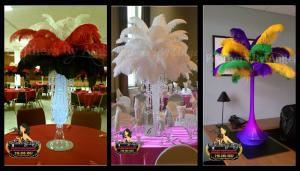 Feathers By Angel-Ostrich Feather Centerpieces - Philadelphia, Philadelphia — Feather Centerpieces for rent.