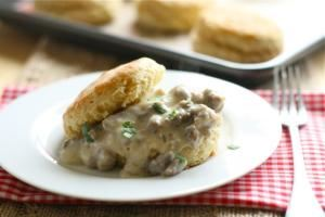 The Presidential Morning Glory, Epik Moments Catering, Houston — Biscuit with Gravy