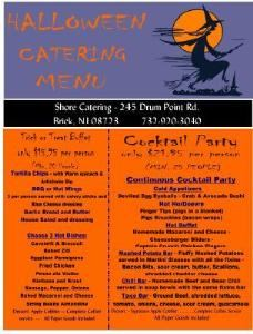 Halloween Cocktail Party Package, Shore Catering Inc., Brick — Halloween Menu