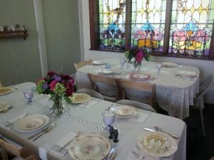 Reception & Event Venue Rental , Celebrations Wedding Chapel & Event Center, Horton — The chapel set up for a reception with my 'Shabby Chic' vintage dishes & silverware.
