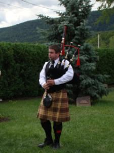 Bagpipe and Trumpet Player, West Chester