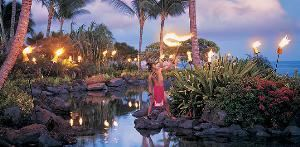 Cabana Beach, Grand Hyatt Kauai Resort & Spa, Koloa — This is how we turn on the lights!