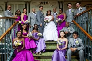 Details by Danielle, Bronx — Purple, yellow and grey wedding