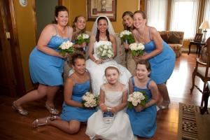 Gold Wedding Photography Package -with Album, Roland Photo and Video Services, East Weymouth — bride's prep mini photo shoot