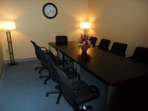 Sampson Boardroom Rental, JS Venue Plus, Morrow — The Sampson Boardroom works well for small committee or board meetings for up to 12 people.