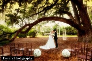 Platinum Wedding Package, Hilton UF Conference Center, Gainesville — Ceremony under the Oak Trees