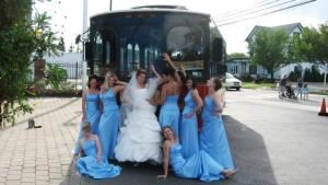 North Fork Trolley Company, Aquebogue — A bridal party before they board the Trolley