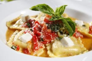 Brunch Package, Due Amici, Columbus — italian sausage ravioli