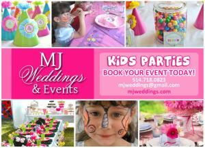 Children's Birthday Party, MJ Weddings & Events, Montreal