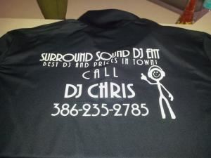 Sweet 16 Party, Surround Sound DJ  Entertainment, Daytona Beach — company shirt