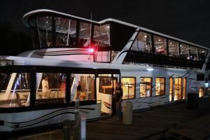 Lake Norman Charter Boats, Event Catering Services, Huntersville — nightime shot of charter boat
