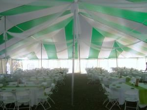 Drop-Off Buffet Package, Holiday Recreation Center, Inc., Mansfield Center — The view from inside the tent