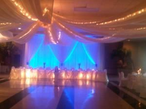 Up lighting package for Wedding , A & M Sounds, London — blue up lighting