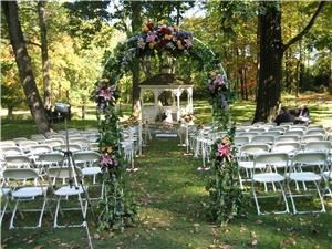 Gazebo, Saucon Valley Acres, Bethlehem — Outdoor Ceremony Site