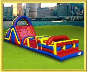 USA Inflatable/Moonwalk Rentals and Party Rentals, Minneapolis — 65' Rock Climb Challenge Obstacle course