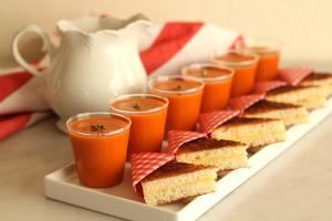 Budget Menus, Culinary Delight Catering, Los Angeles — Mini Grilled Cheese and Your Choice of Soup