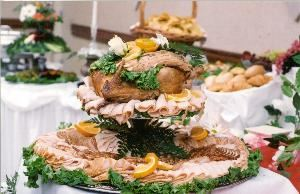 Chef's Preferred Wedding Menu Package, Affordable Catering, Tampa — Dazzle your guests with this attractive display of Smoked Zinfandel and Traditional Turkey.
