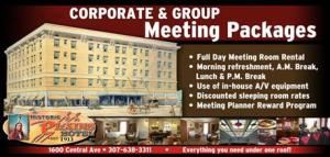 Meeting Planner Package, Historic Plains Hotel, Cheyenne — Corporate and Group Meeting Packages