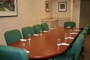 Board Room One, Hilton Garden Inn Syracuse, East Syracuse — Our Boardroom is the perfect size for a your companies conferences.  It can hold up to 10 people