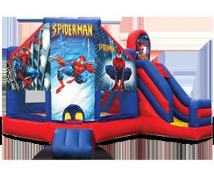 Sports Adventure Party Package, Astro Jump Of Riverside, Riverside — spiderman_combo_w-ramp.JPG