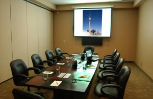 Meeting Room, CN Tower, Toronto — Aspen, Birch and Cedar meeting rooms can accommodate up to 90 theatre style or divide up into breakout rooms or board room settings.